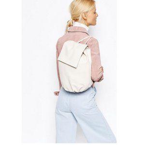 ASOS Design Soft Unlined Cream Backpack